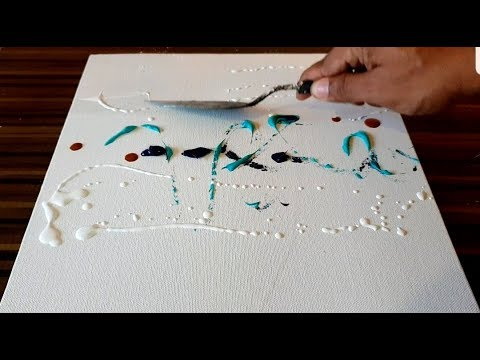 Making Of Easy Abstract Painting Just Using Palette Knife Acrylics Project 365 Days Day 087