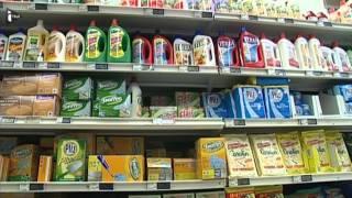 Des produits ménagers considérés comme