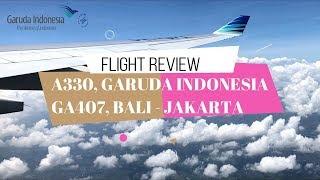 GARUDA INDONESIA BALI-JAKARTA | AIRBUS A330 | PENAMPAKAN GARUDA WISNU KENCANA