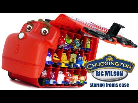 TRAINS FOR CHILDREN VIDEO Chuggington Wilson Carry Case with 17 Trains Review Toys смотреть онлайн