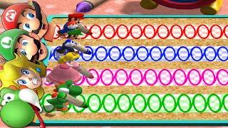 Mario Party 4 MiniGames - Mario Vs Yoshi Vs Luigi Vs Peach (Master Cpu)