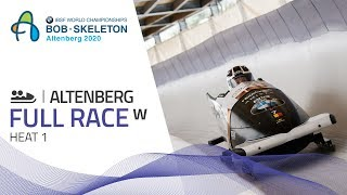 Altenberg | BMW IBSF World Championships 2020 - Women's Bobsleigh Heat 1 | IBSF Official
