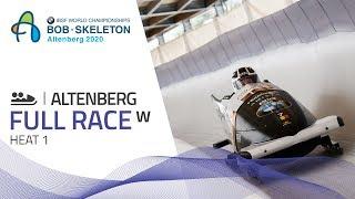Altenberg | BMW IBSF World Championships 2020 - Women's Bobsleigh Heat 1 | IBSF Official