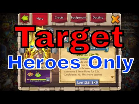 Target Heroes Only Castle Clash Guild Wars