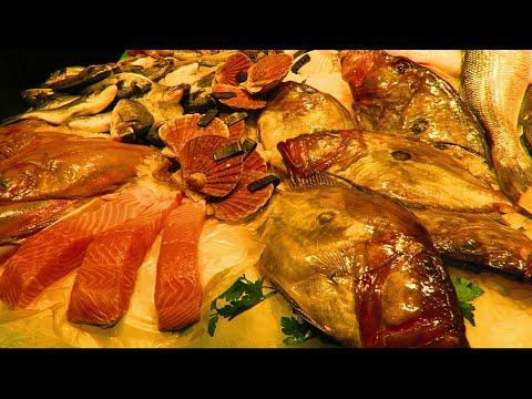 TOUR OF BARCELONA MARKET - Mercat De La Boqueria, Seafood Section