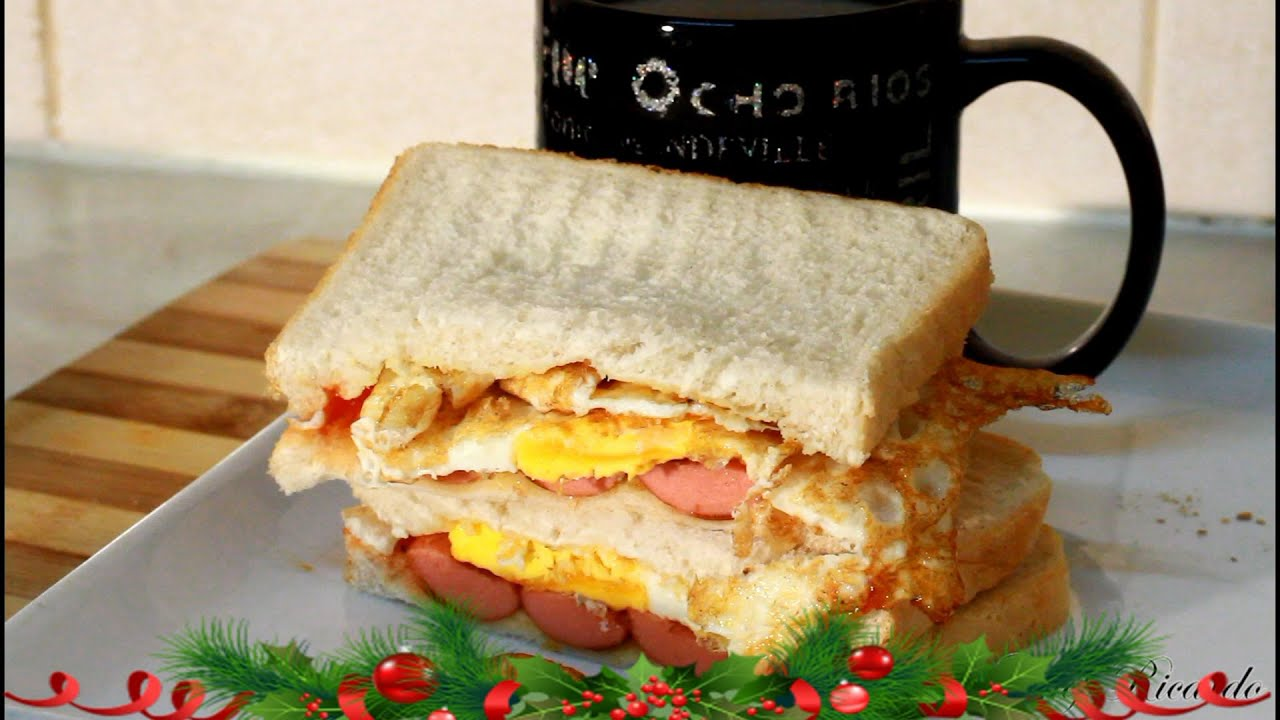 Jamaican Kids Breakfast Meal Frankfurt S Egg Served With Bread Hot Chocolate