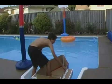Floating a Cardboard Boat!