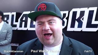 Paul Walter Hauser at  BlacKkKlansman  red carpet talks creepy actor stuff