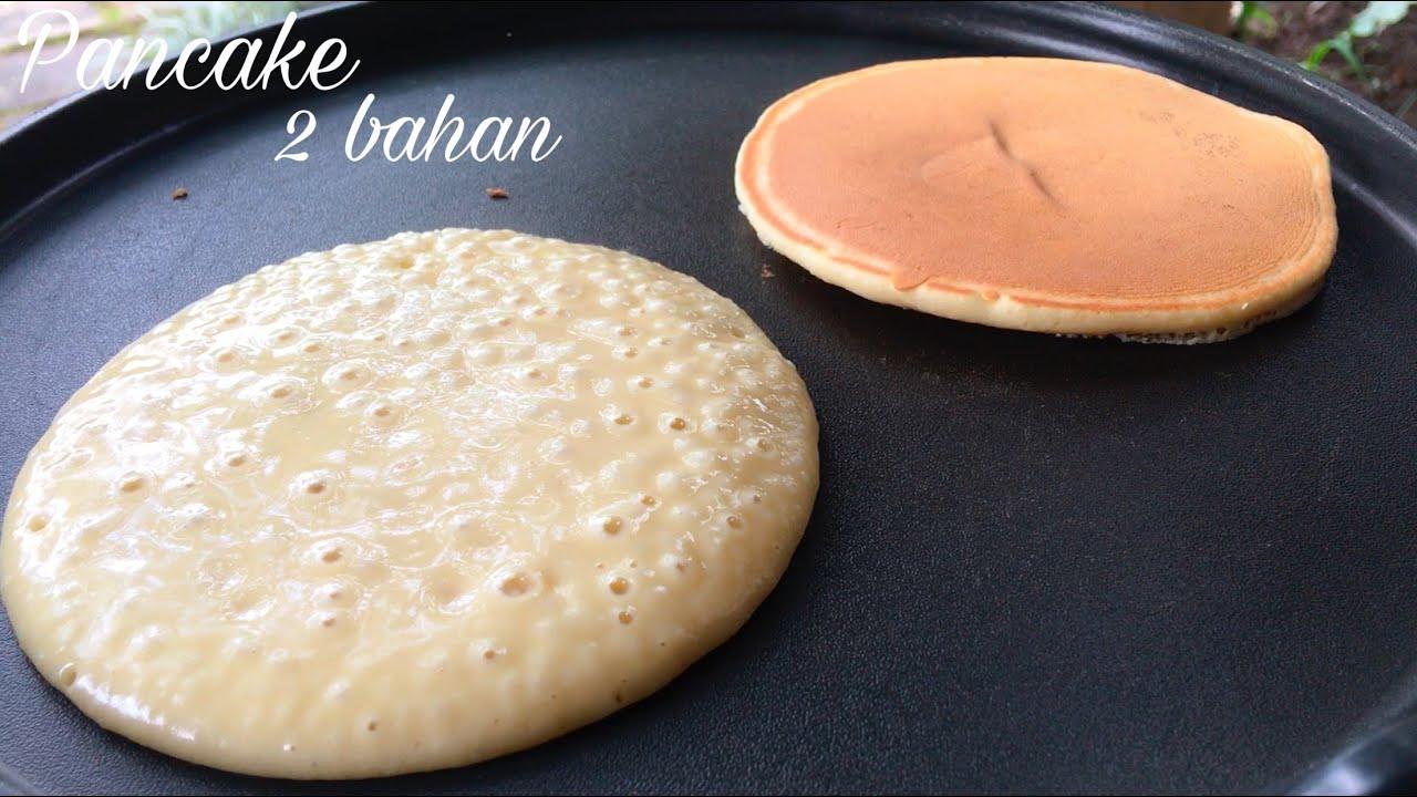 Cara Membuat Pancake 2 Bahan Lembut Tanpa Baking Powder Takaran Sendok Youtube