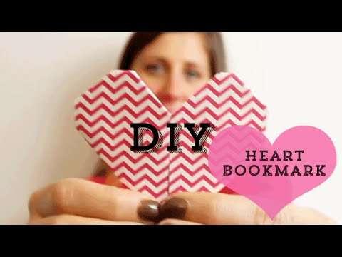 DIY: How To Make a Heart Bookmark