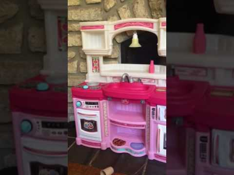 My pottery barn pink kitchen Set thrift store find review