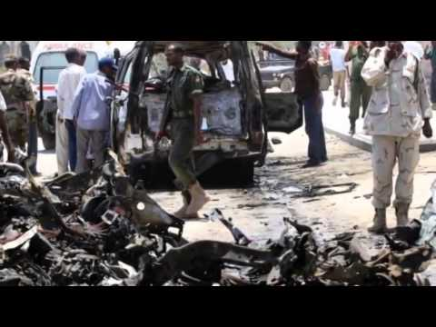 Somali presidential palace Car bomb attack in Mogadishu - 21 February 2014