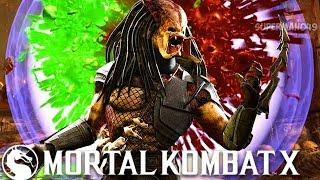 I GOT THE PREDATOR SELF DESTRUCT BRUTALITY Mortal Kombat X Predator Gameplay