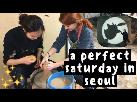 My Life in Seoul | Korean Pottery Class, Record Stores, and Studio Ghibli with My Boyfriend