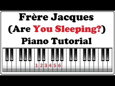 How To Play Frere Jacques On Piano Playing Music By Numbers Piano