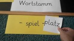 Wortfamilie Teil 3  (Wortstamm 'spiel')