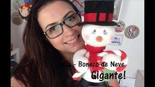 DIY - 'Boneco de Neve Gigante - Natal' - Unidos pela Arte - Raquel Fontinele