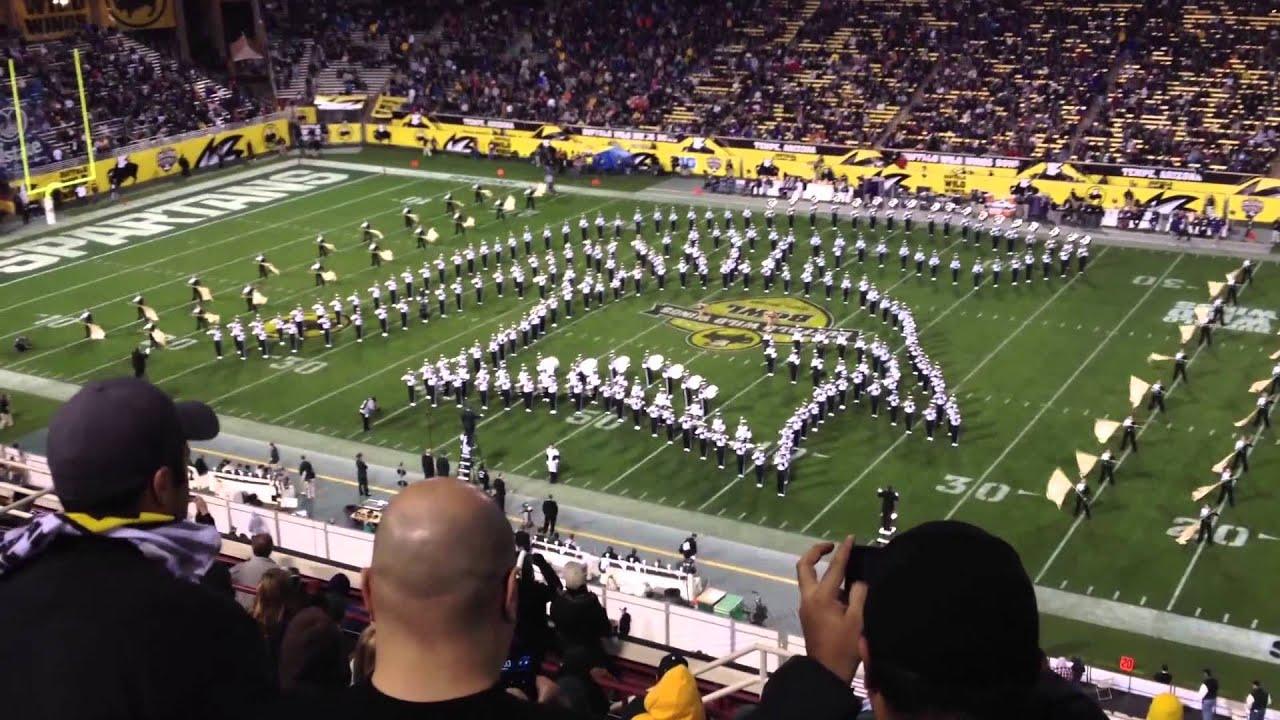 Michigan State Startan Marching Band  Half Time Show