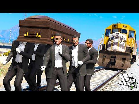 СМЕШНЫЕ СМЕРТИ и ТАНЦЫ С ГРОБОМ в GTA 5! МЕМ COFFIN DANCE! (МОДЫ ГТА 5)