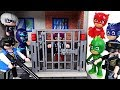 Go! PJ Masks! Catch the villains who escaped from Playmobil police station! - DuDuPopTOY