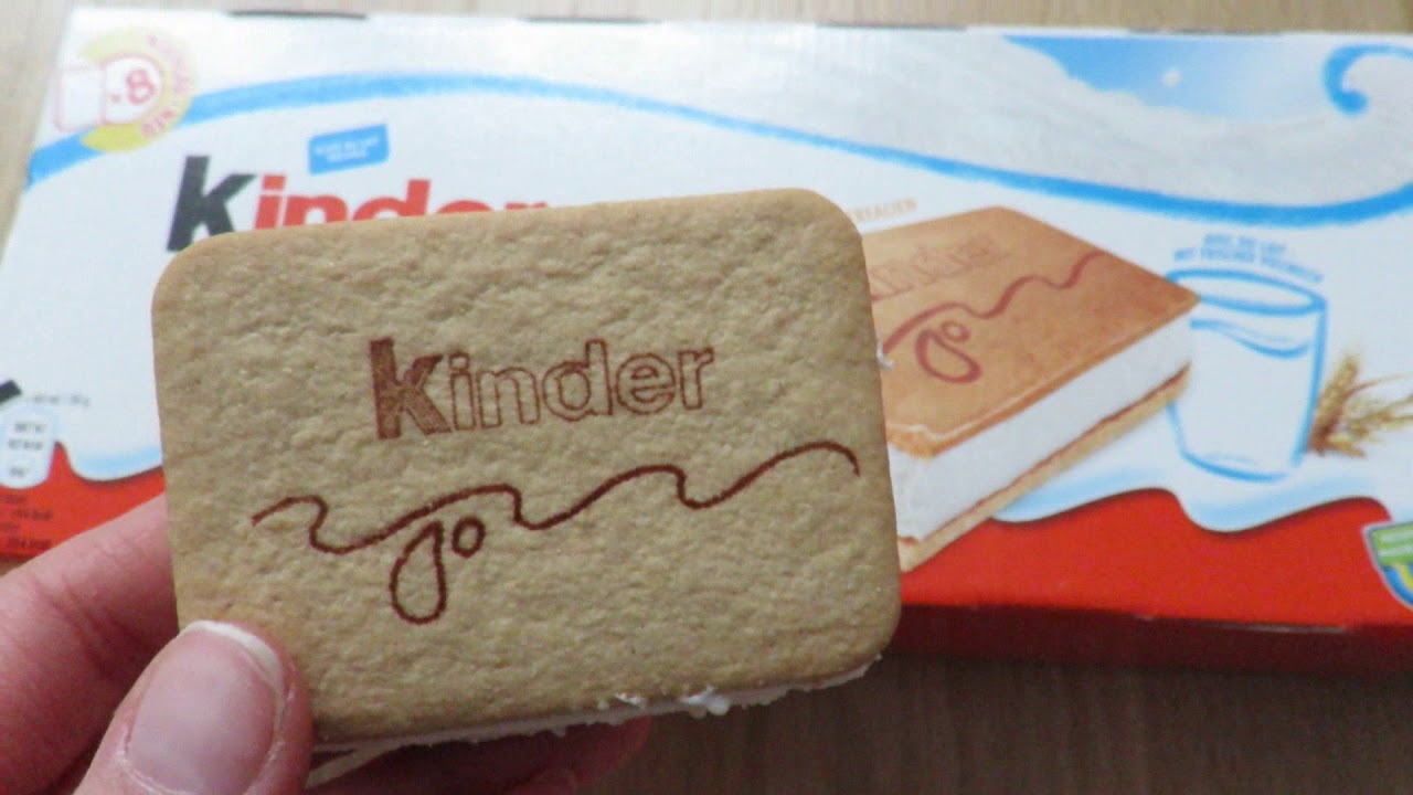 Kinder Ice Cream Sandwich Youtube