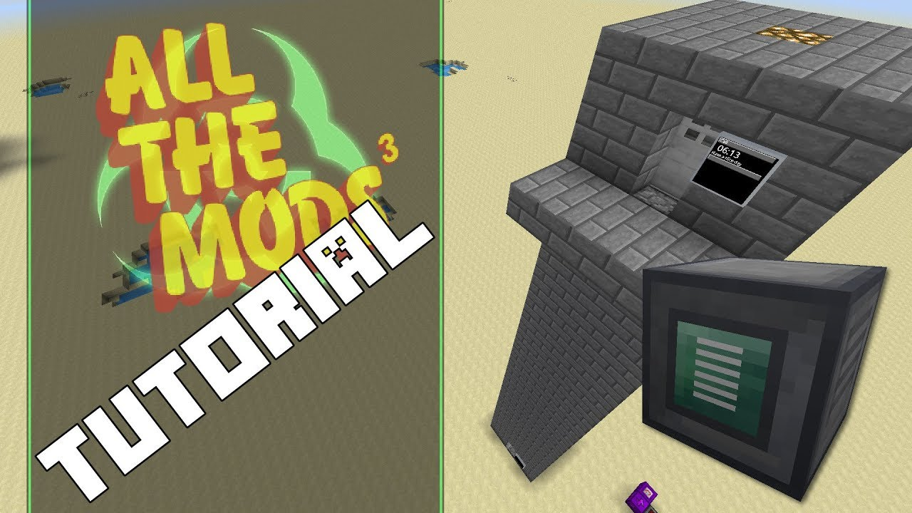 RF Tools Elevator build Tutorial from ATM 3 Let's Play!