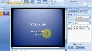 MS Powerpoint 2007 Tutorial in Hindi - Slide Transition, Custom Animation etc