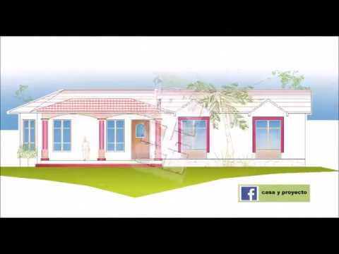 Plano de casa en terrenos de 15 x 20 metros youtube for Casas minimalistas planos