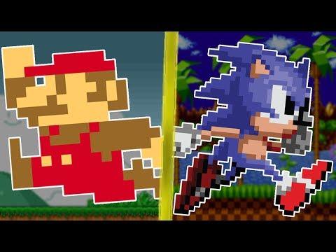 Super Mario Bros. VS Sonic the Hedgehog (Nintendo VS SEGA)