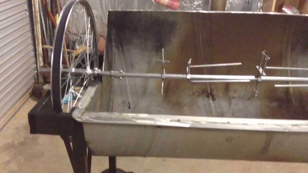 Jazz S Home Made Rotisserie Video 2 Pig Goat Spit Treadmill