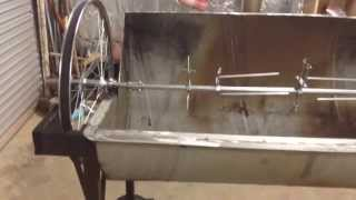 Jazz's Home Made Rotisserie Video 2  (pig,goat,spit,treadmill)