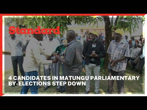 4 candidates in Matungu parliamentary by-elections step down to support the UDA candidate Alex Lanya