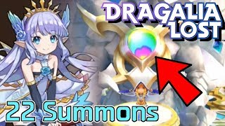 CRAZY LUCK?!? 22 Summons | The Winter Flower Banner | Dragalia Lost