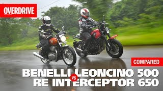 Benelli Leoncino 500 vs Royal Enfield Interceptor 650 | Comparison Test | OVERDRIVE