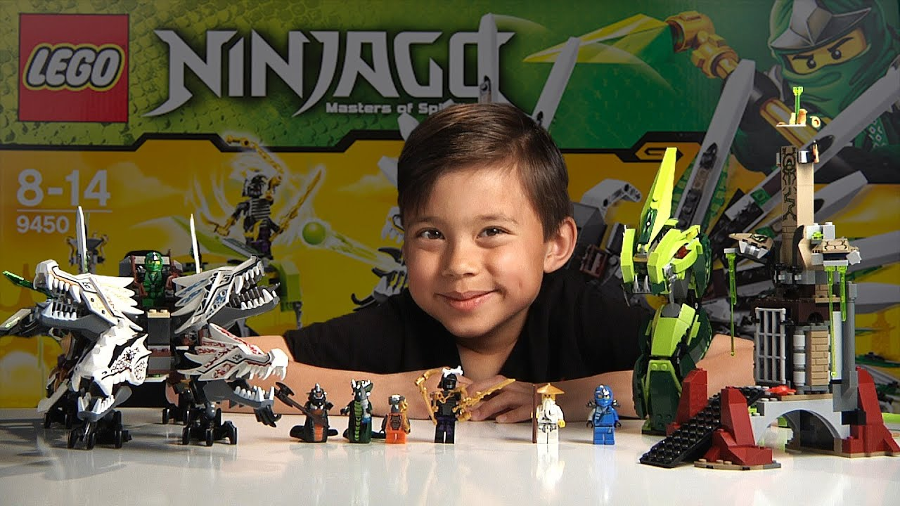 EPIC DRAGON BATTLE Lego Ninjago Set 9450 Unboxing Review & Time lapse build