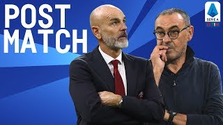 Juventus 1-0 Milan | Sarri & Pioli Post Match Press Conference | Serie A