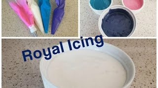 How to make Royal Icing / How to Color Royal Icing