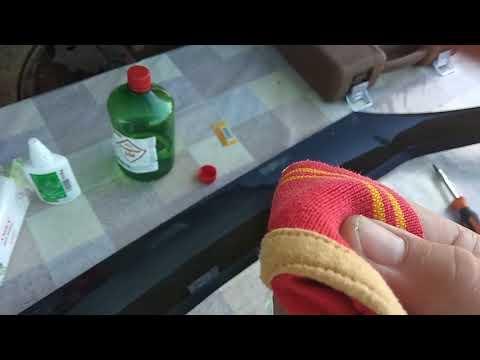 Как убрать двухсторонний скотч с пластика автомобиля