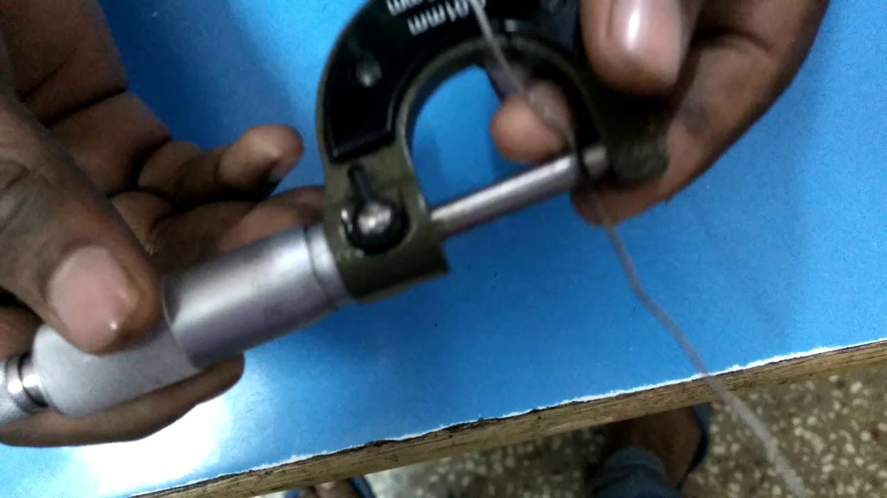 Experiment 2 diameter of wire using screw gauge11th class youtube experiment 2 diameter of wire using screw gauge11th class greentooth Image collections