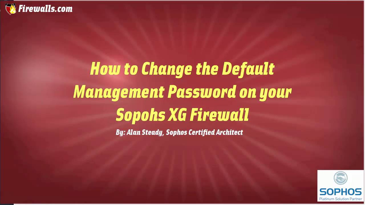 how to change firewall without admin password