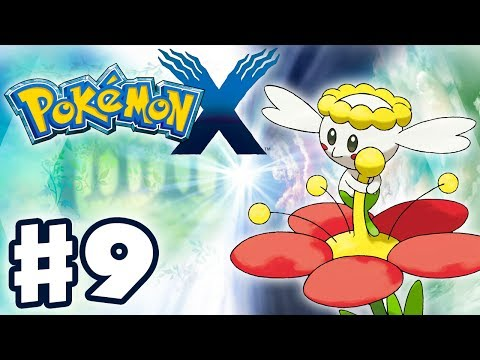 Pokemon X And Y - Gameplay Walkthrough Part 9 - Flabebe Evolves Into Floette (Nintendo 3DS)