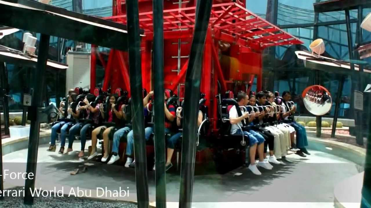 g-force @ ferrari world abu dhabi - youtube