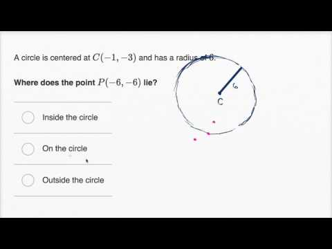 Points inside/outside/on a circle | Mathematics I | High School Math | Khan Academy