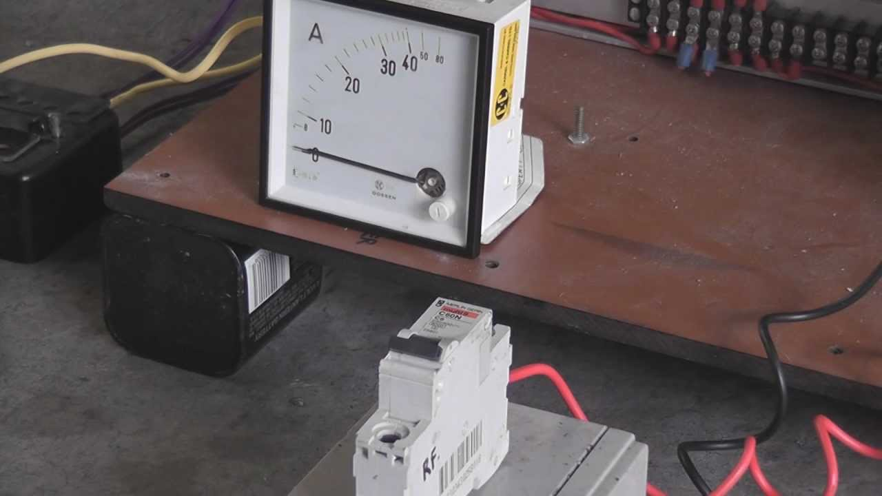 A 6 Amp AC breaker trips on DC at 240 Volts 30 Amps - YouTube