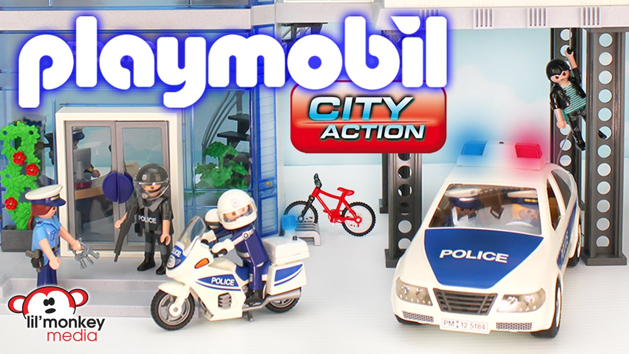 Verbazingwekkend Playmobil City Action - Police Station with Alarm, Helicopter HI-05