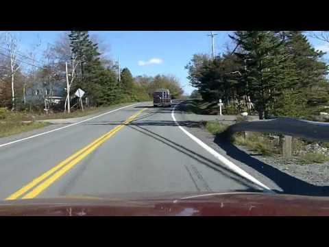 Driving Nova Scotia Route 207 - Dartmouth - Lawrencetown - West Chezzetcook - Porters Lake