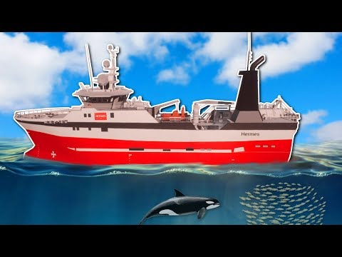 BOTTOM TRAWLING WITH HUGE SHIP! - Fishing: Barents Sea Gamep