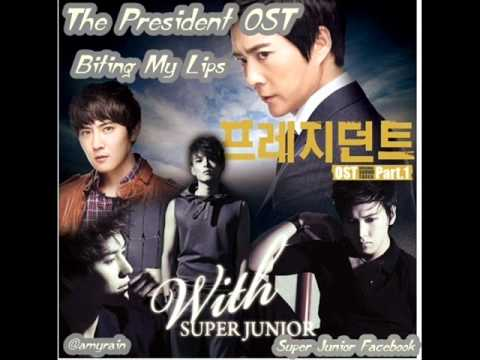 Super Junior's Kyuhyun Ryeowook Sungmin - Biting My Lips ( The President OST )
