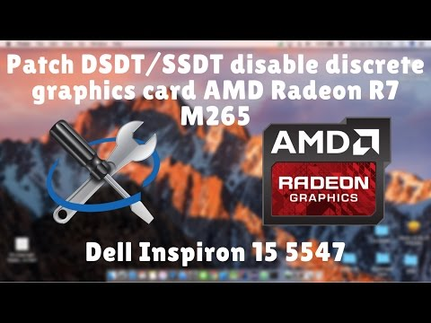 How to patch DSDT/SSDTs for disabling discrete graphics card
