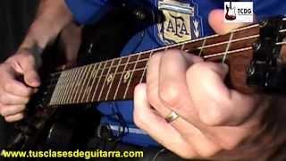 Aprender como tocar Paradise City (Guns N Roses) en guitarra acordes notas la cuerda Curso TCDG